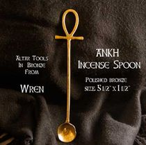Bronze Ankh Incense Spoon