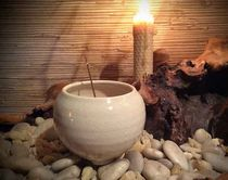 Ivory Moon Incense Bowl
