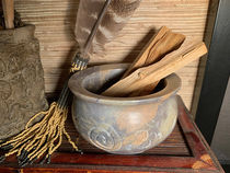 Carved Stone Smudge Bowl - with Palo Santo